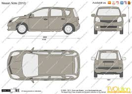 nissan note 2011 the blueprints com vector drawing nissan note