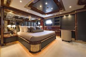 Yacht Bedroom by Mine Games 203 Benetti 2010 Miami Florida
