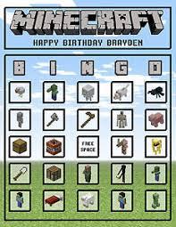 minecraft cards minecraft bingo cards personalized ebay