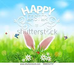 vector background easter template rabbit ears stock vector