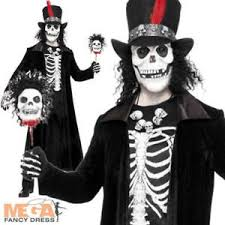 James Bond Costume Halloween Voodoo Skeleton Men U0027s Halloween Fancy Dress Costume James Bond