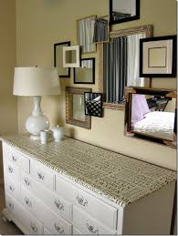 Mirror Collage Wall How To Update A Hand Me Down Dresser Dresser Mirror Collage And