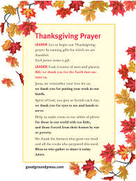 thanksgiving day grace keeping faith today