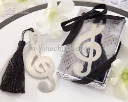 bookmark favors unique gifts musical notes bookmark favors wedding party