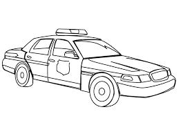 Coloriage voiture de police  Momesnet