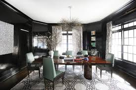 glamour in the suburbs home tour lonny black lacquer walls