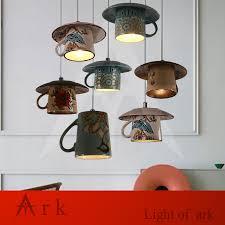 Led Pendant Lighting For Kitchen by New Vintage Mug Pot Tea Cup Led Pendant Lights Restaurant Passage