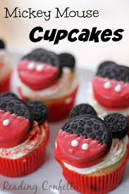 mickey mouse cupcakes mickey mouse cupcakes baking with kids reading confetti