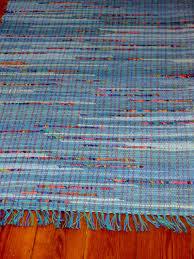 Denim Rag Rug Denim Rag Rug By Kinkaidweaver On Etsy 39 00 Bath Pinterest