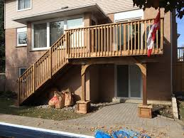 aurora deck after construction front view architectural drafting