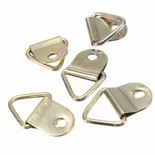 frame hanger 100pcs creative new golden picture hangers brass triangle photo