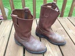 1114 best bottes souliers bottes vintage wing stock 1114 pecos brown leather pull on