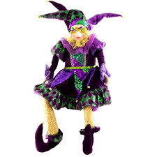 mardi gras jester dolls 36 mardi gras sitting jester doll with mask 72397