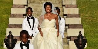 gabrielle union wedding dress gabrielle union turned wedding into a rom