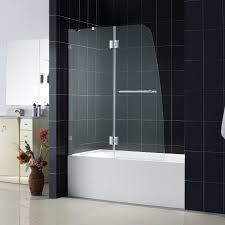 bathroom white bathtub design with dreamline shower doors and