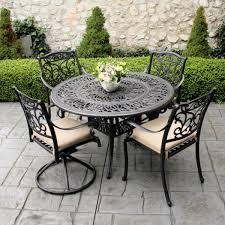 Patio Furniture Foot Pads by Complimenting Patio With Wrought Iron Patio Furniture