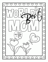 world u0027s best mom mother u0027s day coloring page for kids coloring