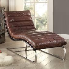 Leather Chaise Lounge Leather Chaise Lounge Chairs You Ll Wayfair