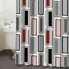 Curtains Black And Red Black White Red Shower Curtain Curtains Bathroom Pinterest