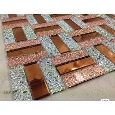 Mosaic Bathroom Mirrors by And Silver Glass Mosaic Sheets Bathroom Mirror Wall Tiles Crystal
