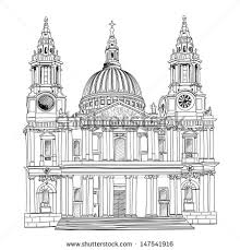st paul cathedral london city uk stock vector 147541916 shutterstock