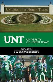 Unt Campus Map University Of North Texas 2015 2016 Guide For Parents By