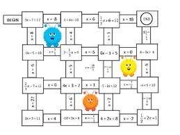 algebra solving one and two step equations mazes free tpt