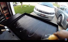 how to clean a blackstone griddle camp chef flat top grill youtube