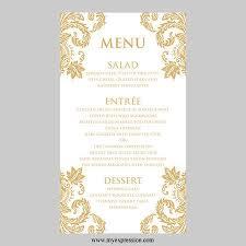 wedding menu templates 29 images of silver menu card template online eucotech