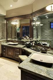 Interior Design Bathrooms Fabulous Corner L Shaped Bathroom Vanity Love The Basins