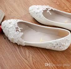 wedding shoes flats ivory plus big sizes white flat wedding shoes light ivory lace flowers