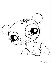 littlest pet shop cute panda coloring pages printable