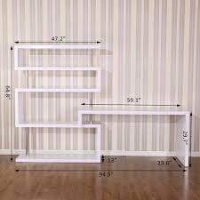 Desk Shelf Combo by Gym Equipment Foldable Rotating Corner Desk And Shelf Combo
