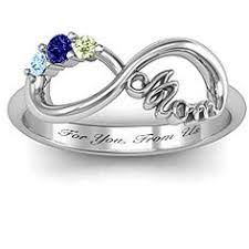 mothers day rings with names family is forever heart shaped diamond and birthstone ring
