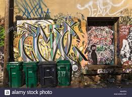 kanada fläche graffiti in einer gasse in der kunst design district west
