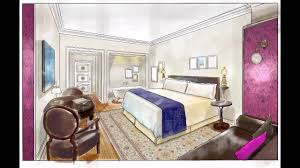 designing a hotel room from sketchup model to final color