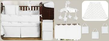 White Crib Set Bedding Solid White Minky Dot Baby Bedding 9 Crib Set