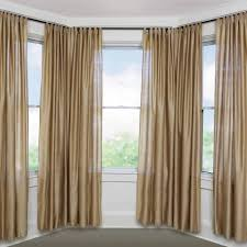 Bay Window Treatment Ideas by Double Rail Curtain Rods Bow Window Drapes Bay Window Curtain