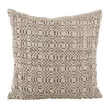 home design down pillow brisbane collection smocked design down filled cotton throw pillow