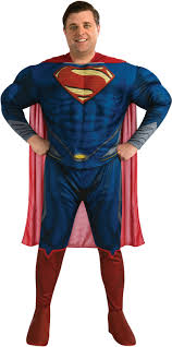 Mens Size Halloween Costumes Size Deluxe Man Steel Superman Men Costume 53 99