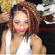 senegalese twist hair brand brown color popular janet braids kanekalon havana mambo twist hair