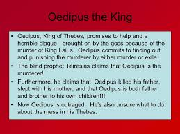 King Of The Blind Oedipus The King Ace Honors English I A Riddle What Walks On