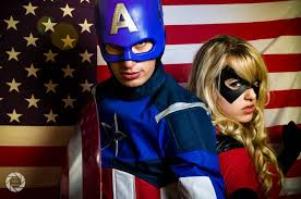 Ms Marvel Halloween Costume Characters Captain America Steve Rogers U0026 Ms Marvel Moonstone