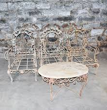 vintage outdoor wrought patio furniture set ebth