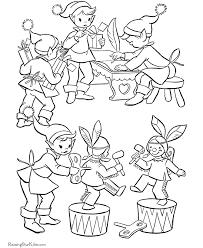christmas printable coloring pages santa u0027s elves