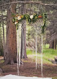wedding backdrop tree 25 bohemian macrame knotted wedding decor ideas deer pearl flowers