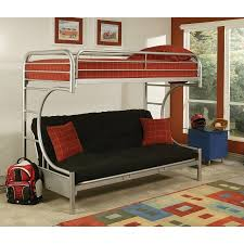 Eclipse Twin XL Over Futon Metal Bunk Bed Silver Walmartcom - Walmart metal bunk bed