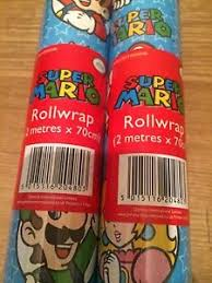 mario wrapping paper nintendo mario gift wrap wrapping paper roll 2 meter ebay