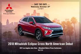 mitsubishi eclipse 2017 new mitsubishi eclipse cross coming to u s through the la show