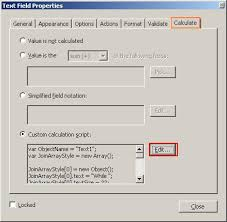 Count Calculation In Adobe Acrobat Forms Adobe Acrobat Format Fonts For Text Field Default Values